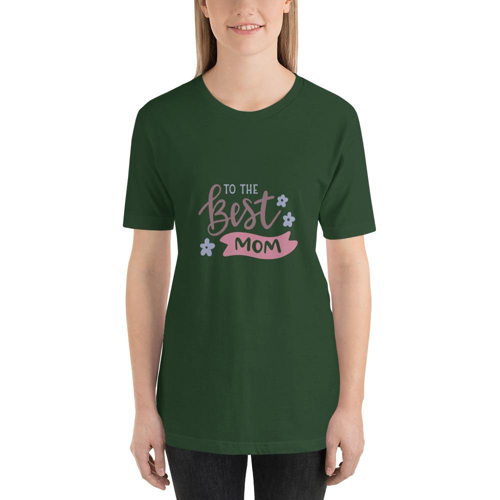 To the best mom Women Short-Sleeve T-Shirt Marks'Marketplace Forest S