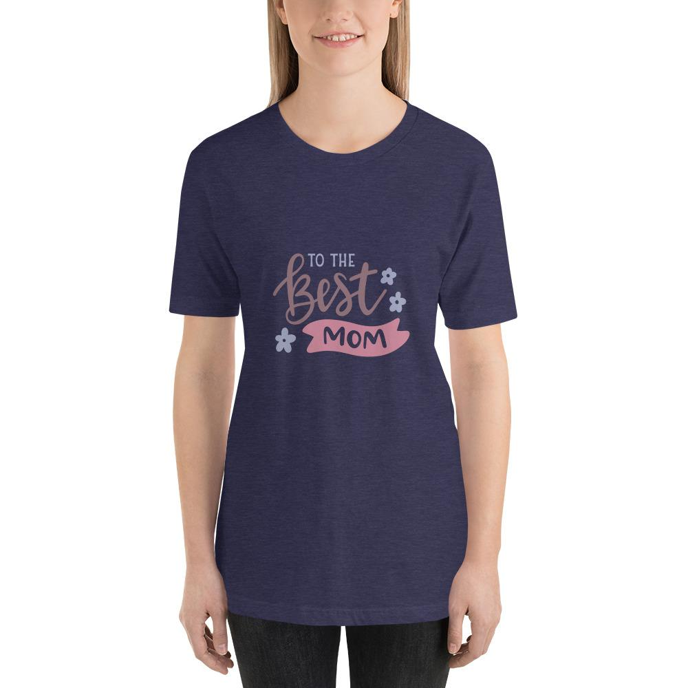 To the best mom Women Short-Sleeve T-Shirt Marks'Marketplace Heather Midnight Navy XS