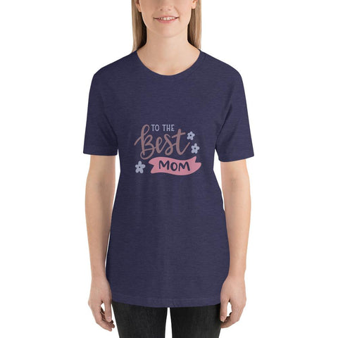 Image of To the best mom Women Short-Sleeve T-Shirt Marks'Marketplace Heather Midnight Navy XS