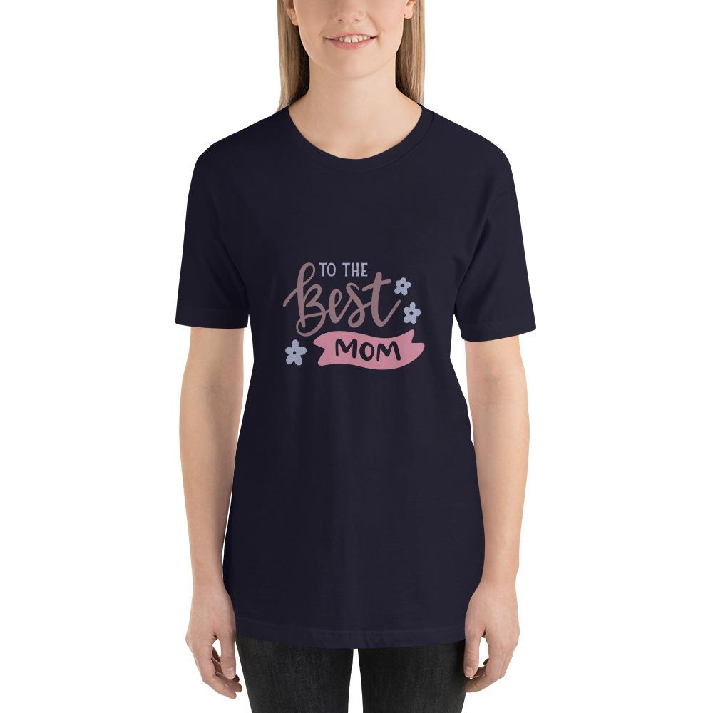 To the best mom Women Short-Sleeve T-Shirt Marks'Marketplace Navy XS