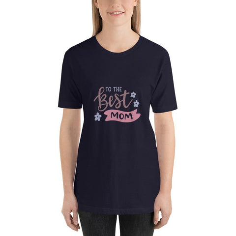 Image of To the best mom Women Short-Sleeve T-Shirt Marks'Marketplace Navy XS
