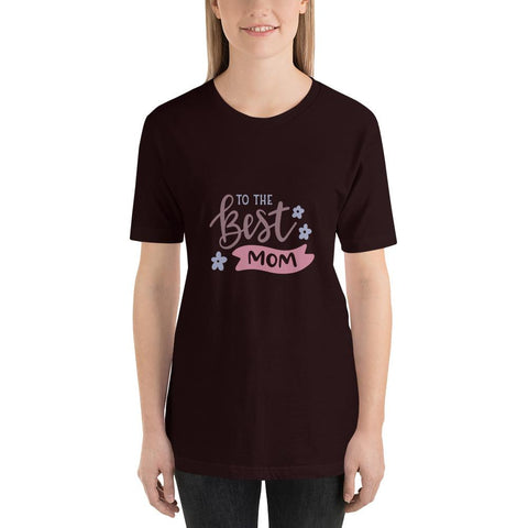 Image of To the best mom Women Short-Sleeve T-Shirt Marks'Marketplace Oxblood Black S