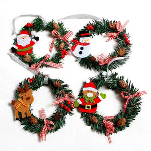 Wreath Wood Christmas Decoration For Home