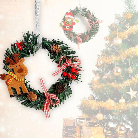 Wreath Wood Christmas Decoration For Home Marks'Marketplace