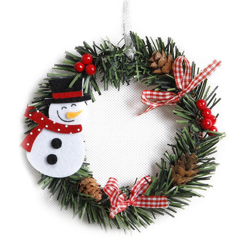 Wreath Wood Christmas Decoration For Home Marks'Marketplace Fluorescence Yellow
