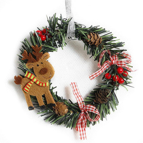 Wreath Wood Christmas Decoration For Home Marks'Marketplace Mint Green