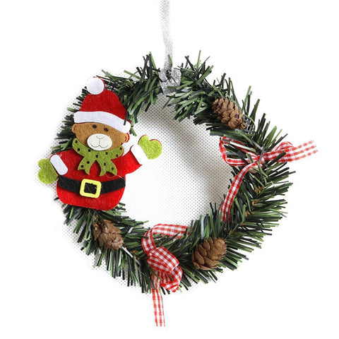 Wreath Wood Christmas Decoration For Home Marks'Marketplace Olive