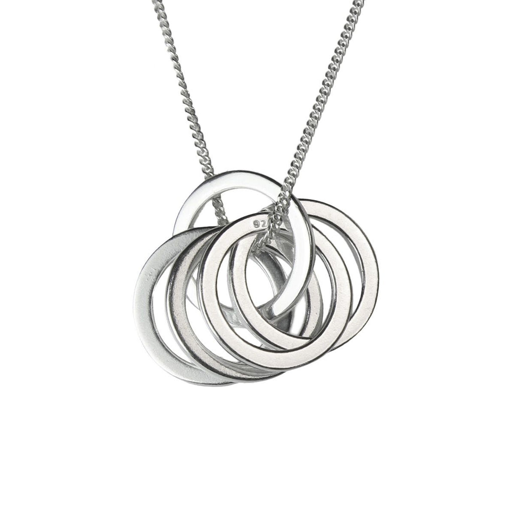 linked silver pendant