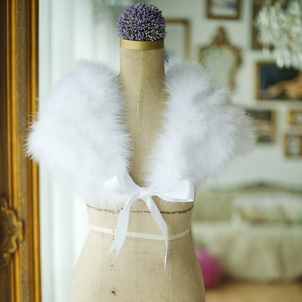 Marabou feather shrug