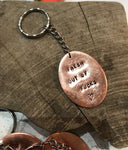 Naughty copper keyrings