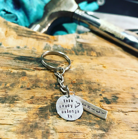 Engraved tag keyring