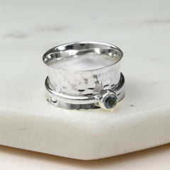 December Birthstone Spinning Ring Topaz