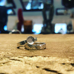 Ashes medium band ring