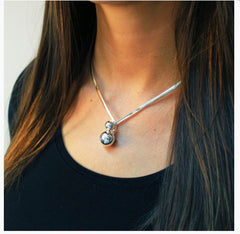 Sterling silver torque collar necklace