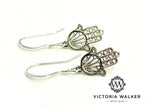 Sterling Silver Hamsa Earrings