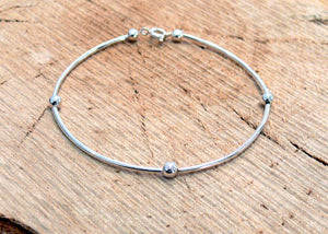Silver plated stacker bracelet