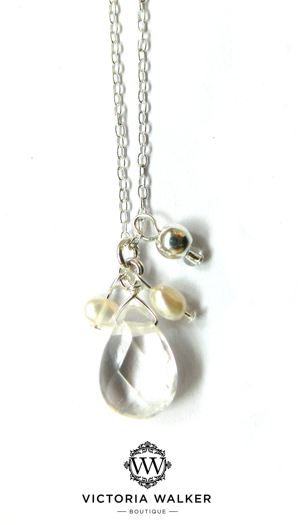 Crystal Quartz Freshwater Pearl Necklace