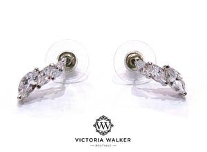 Triple Marquise Studs