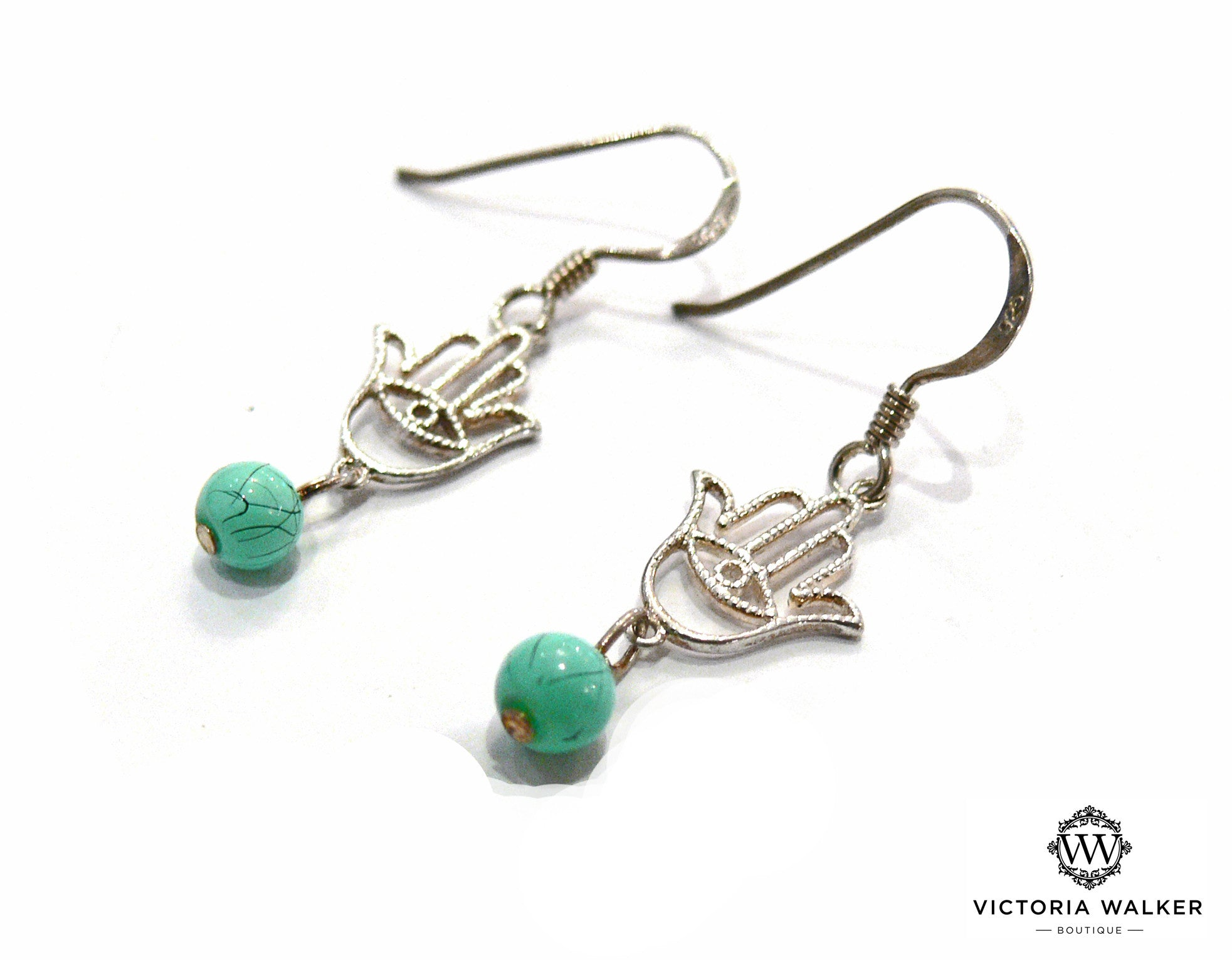 Turquoise Hamsa Earrings