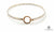 Silver Gold Loop Bangle