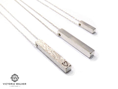 Bespoke Silver Bar Necklace