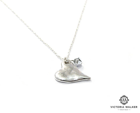 Dimpled Heart Necklace
