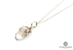 Herkimer Diamond Wrap Necklace