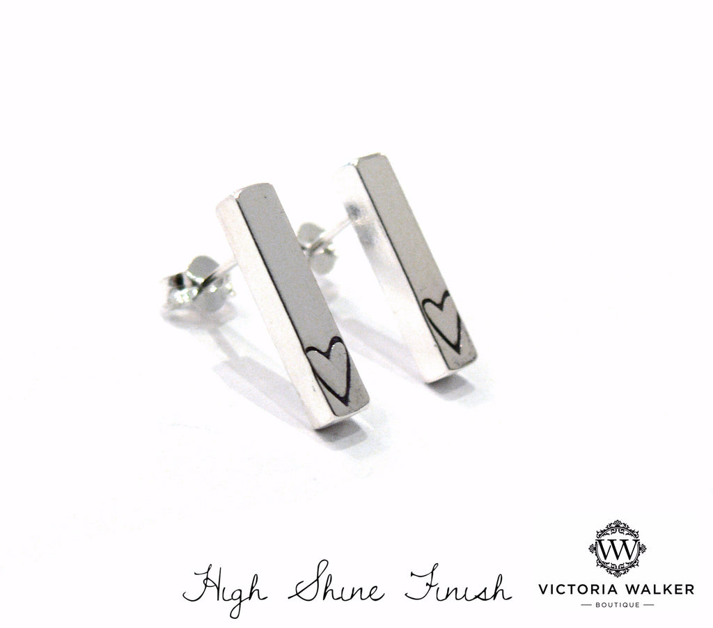 Heart Bar Earrings