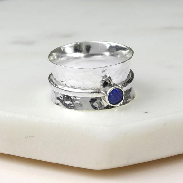 Birthstone spinning ring