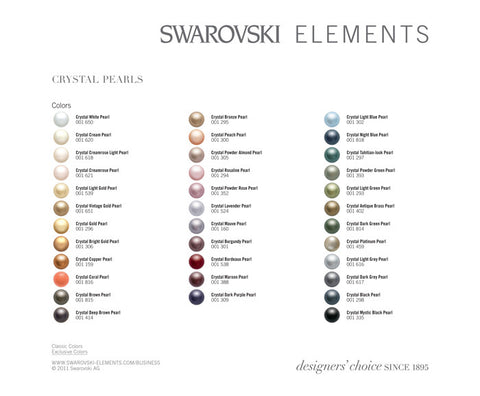 Crystal Elements Colour Samples