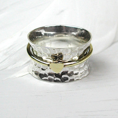 Heart Spinning Ring