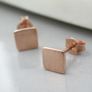Brushed Square Studs