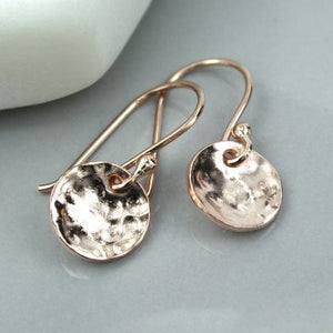 Hammered Disc Earrings