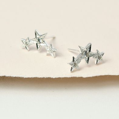 Sparkly shooting star earrings