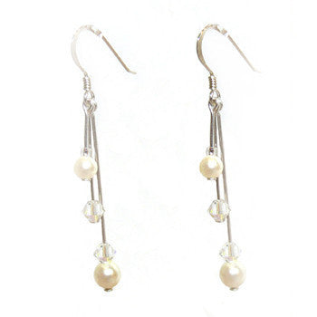 Long Triple drop Earrings