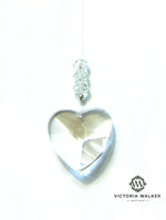 Glass heart window crystal