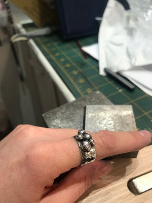 My Worlds silver ring