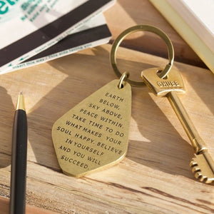 Brass keyring- believe in yourself