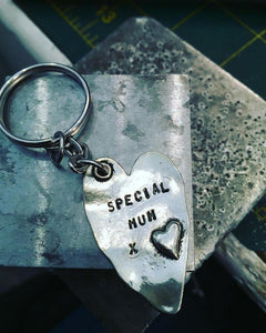 Personalised Heart keyring