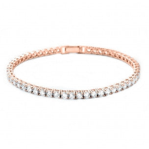 Rose gold Crystal tennis bracelet