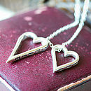 Engraved Double Heart Necklace