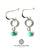 Turquoise silver loop earrings