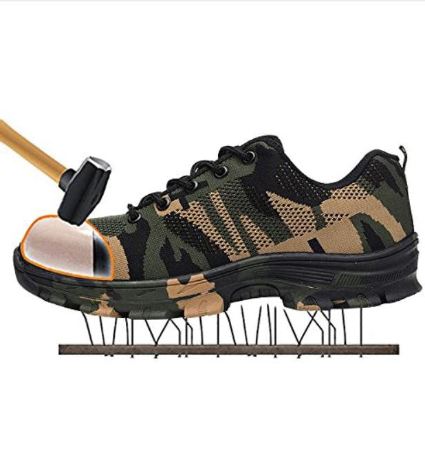 Safety military sneakers with steel toe cap