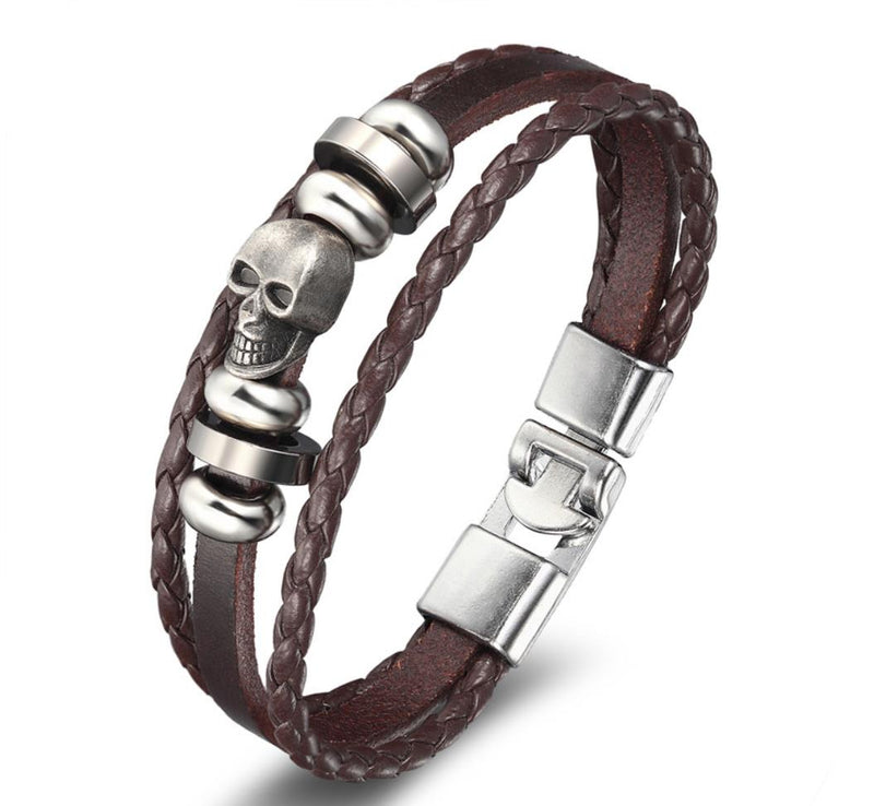 EGOIST PIERRE Vintage Leather Bracelet