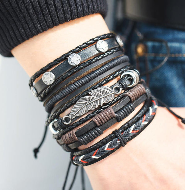 EGOIST JEAN Vintage leather bracelet
