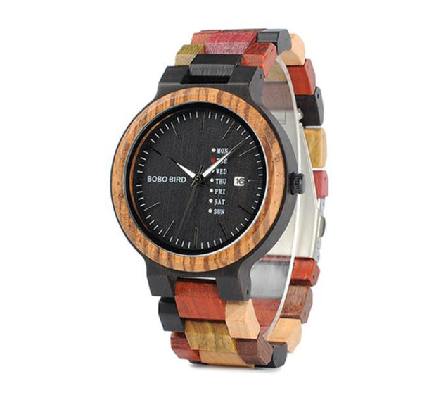 EGOIST LOWRENCE Wooden Quartz Wrist Watch