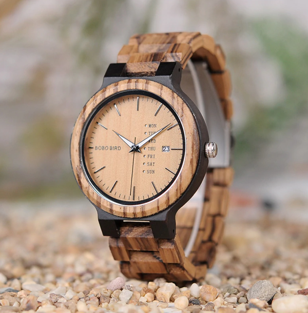 EGOIST DAVE  Wooden Quartz Wrist Watch