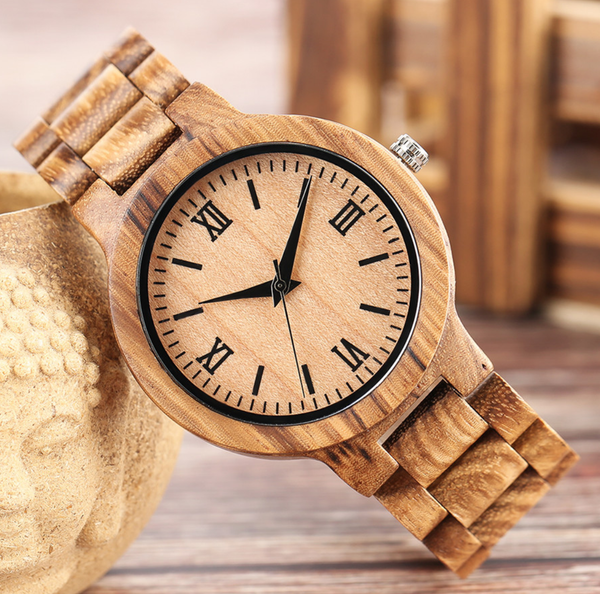 EGOIST PRESENT Wooden Quartz Wrist Watch