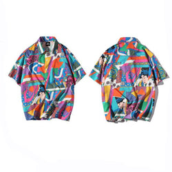 Japanese anime Hawaiian Printed Shirt
