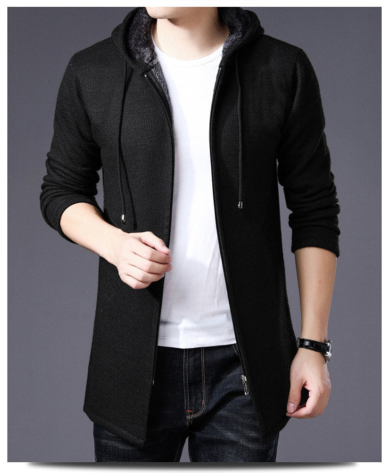 EGOIST DYLAN Long Cardigan with Hood